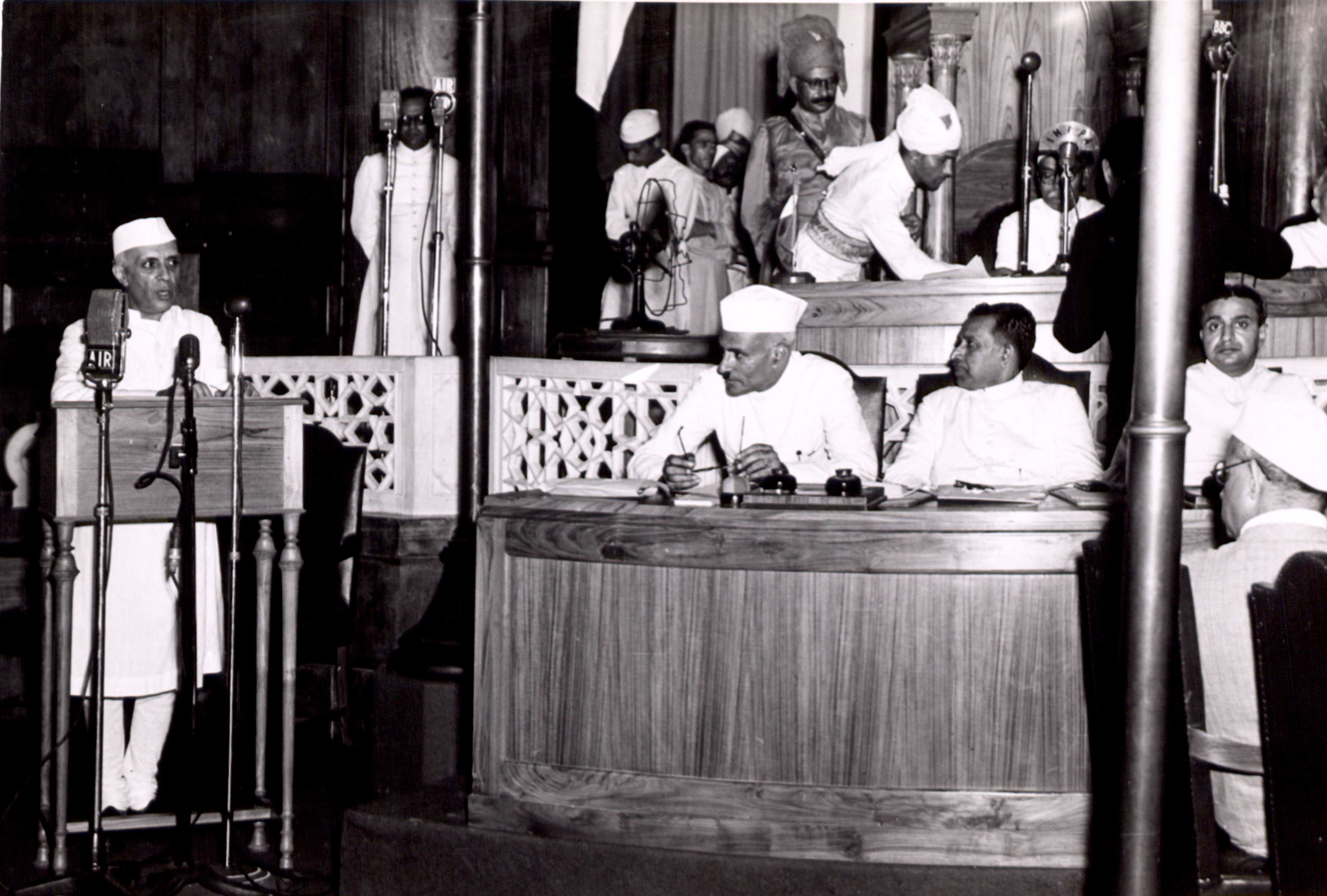 """nehru a tryst with destiny Tryst with destiny- jawaharlal nehru the given text is a speech which was orated by jawaharlal nehru """"at the stroke of the midnight hour"""" when india attained her freedom in 1947."""