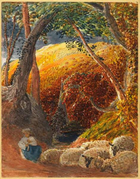 Here S Looking At Ewe Samuel Palmer And His Watercolour