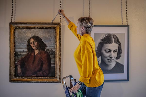 Women at Cambridge portrait exhibition