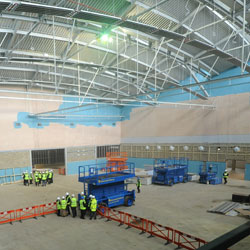 Cambridge sports centre topped out at west cambridge university of cambridge Swimming pools in cambridge uk