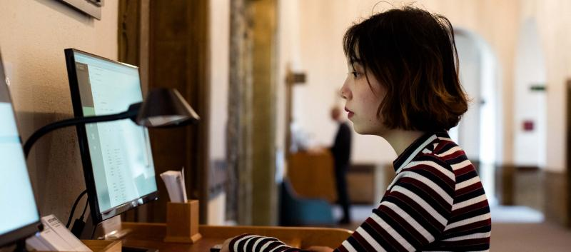 Student at the University Library. (Image © Alice the Camera/Cambridge University Library)