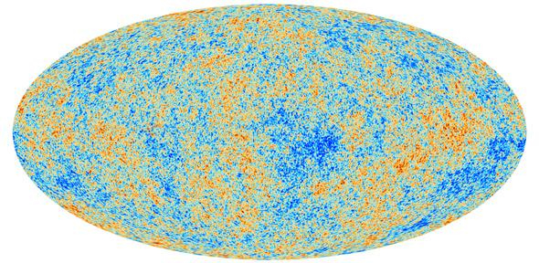 Map of the cosmic microwave background. Credit: ESA/Planck collaboration