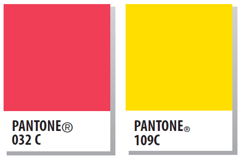 Safety Yellow Pantone 032 And Yellow Pantone 109