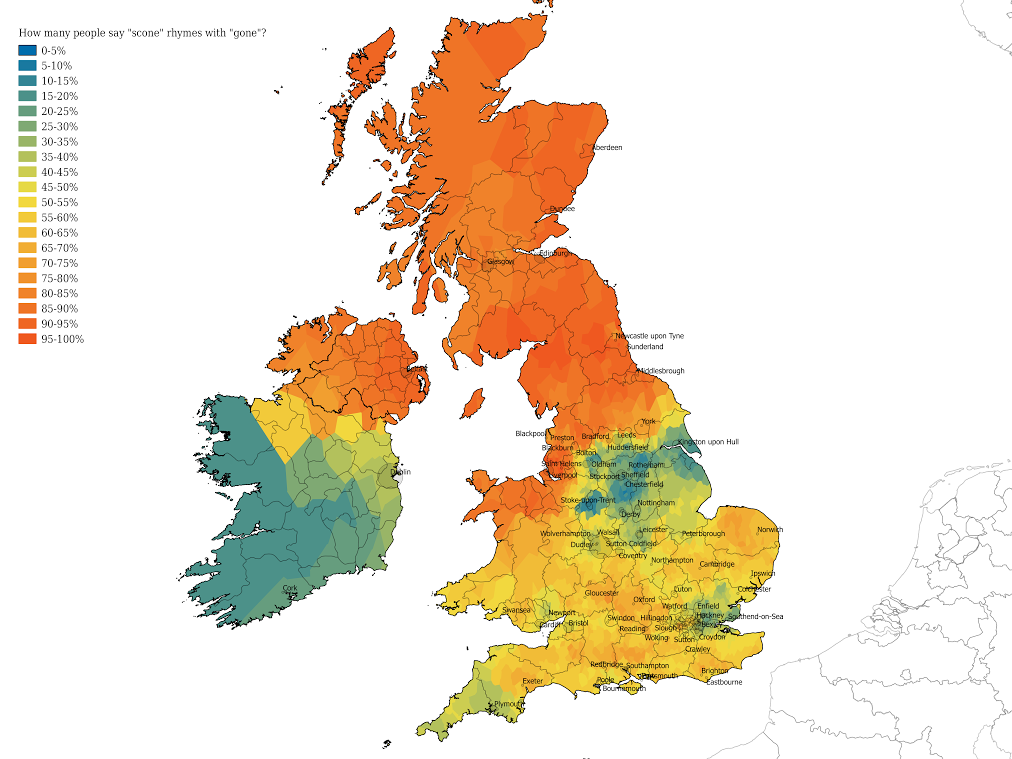 Cambridge App Maps Decline In Regional Diversity Of English - Us dialect map