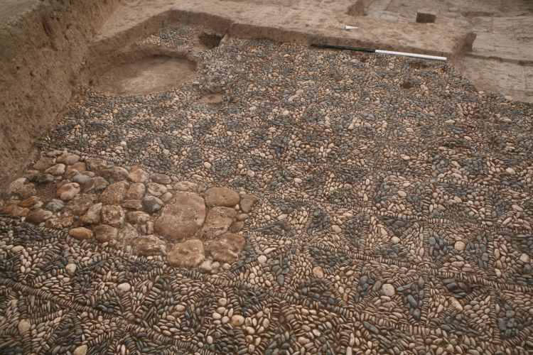 A section of mosaic pavement