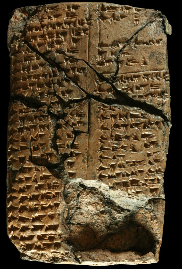 Cuneiform text