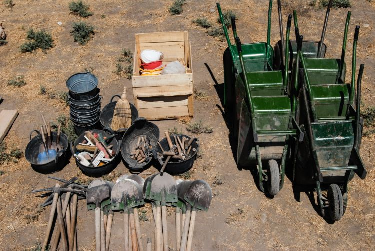 Wheelbarrows and other tools