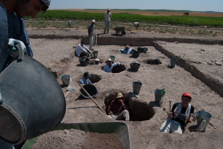 Excavating in the lower town