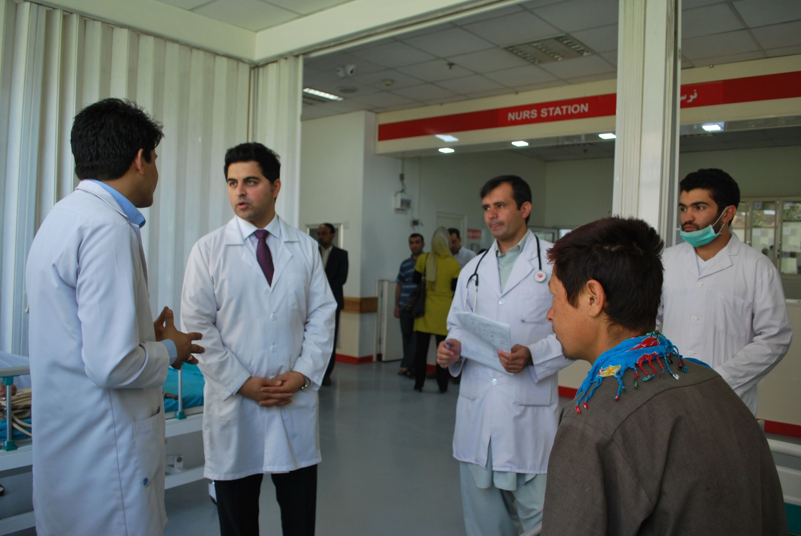 Patient rounds in Kabul hospital