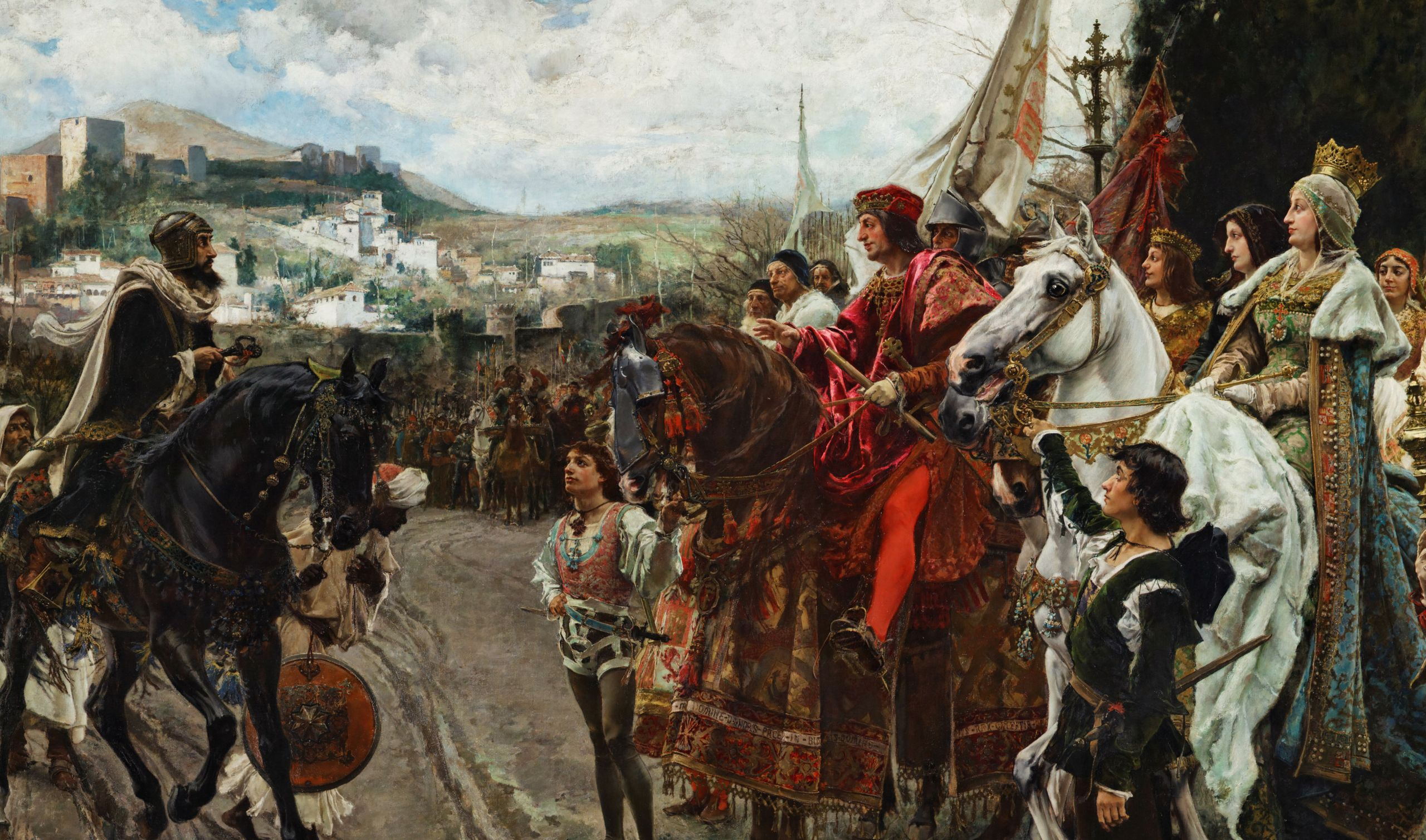 Francisco Pradilla Ortiz, La Rendición de Granada (oil on canvas, 1882).