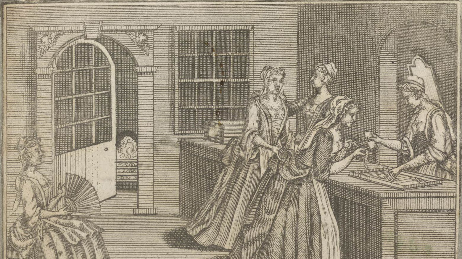 Trade card of Benjamin Cole, haberdasher (c.1720). © The Trustees of the British Museum