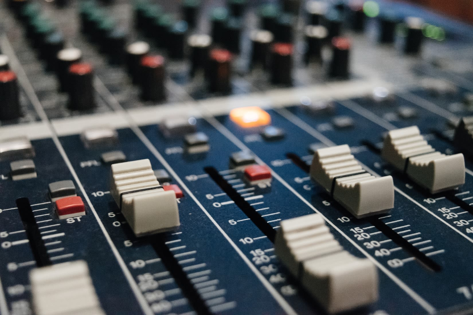 Students in the Cam FM studio
