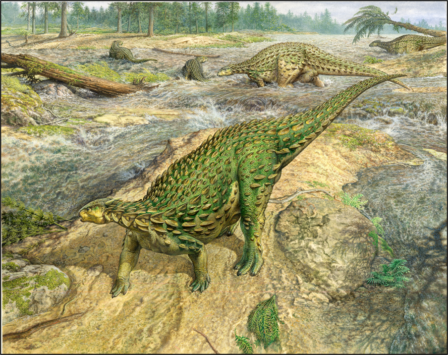 Scelidosaurus: illustration by John Sibbick.