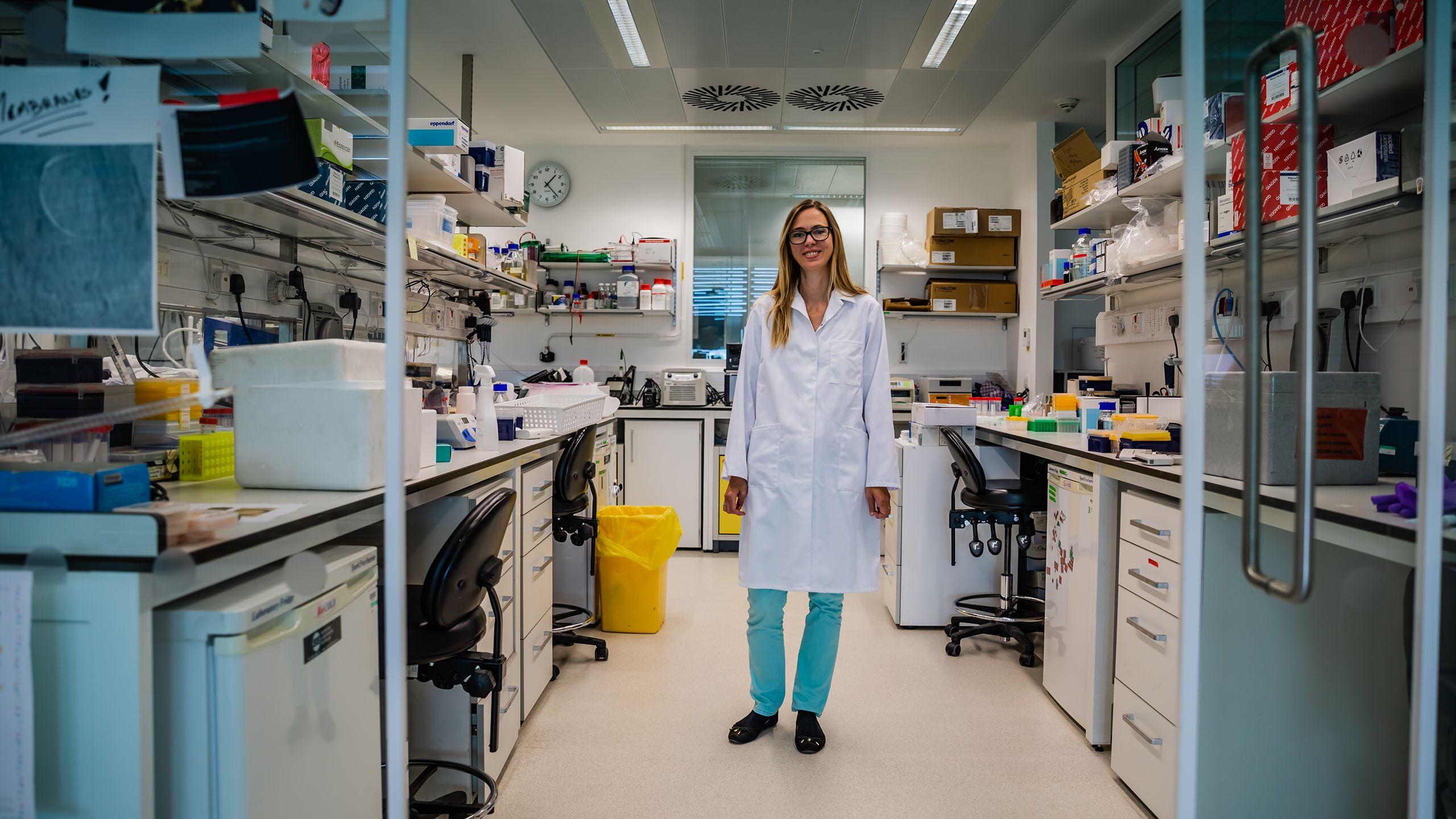 Madeline Lancaster in her lab