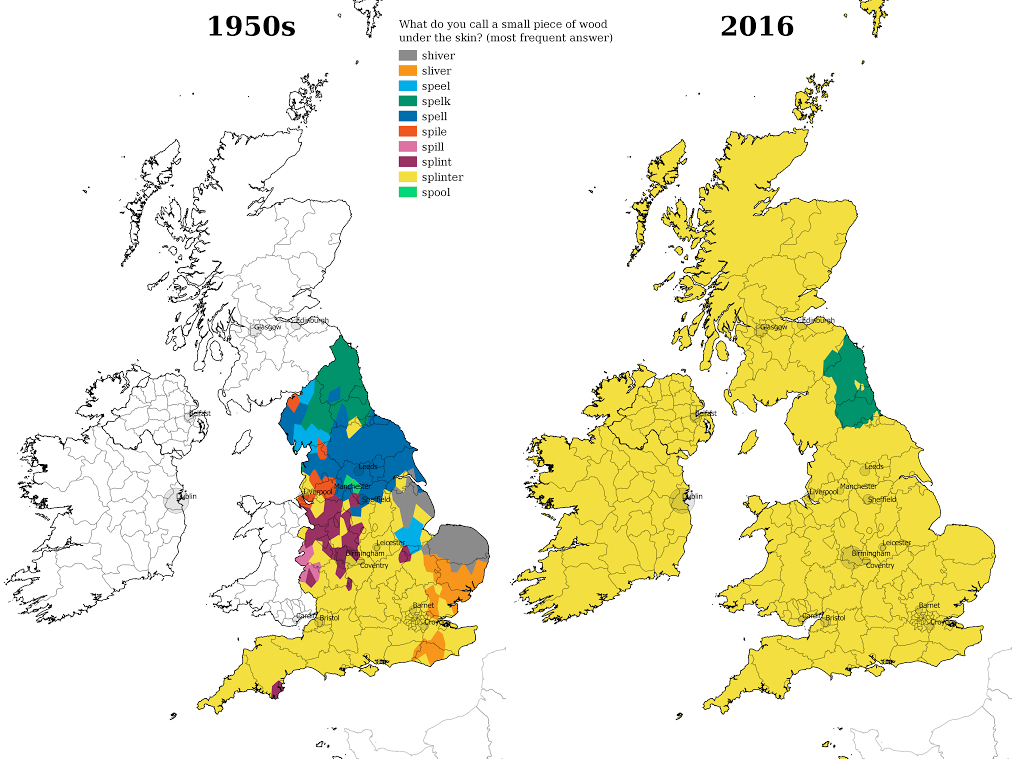 Cambridge app maps decline in regional diversity of English dialects ...