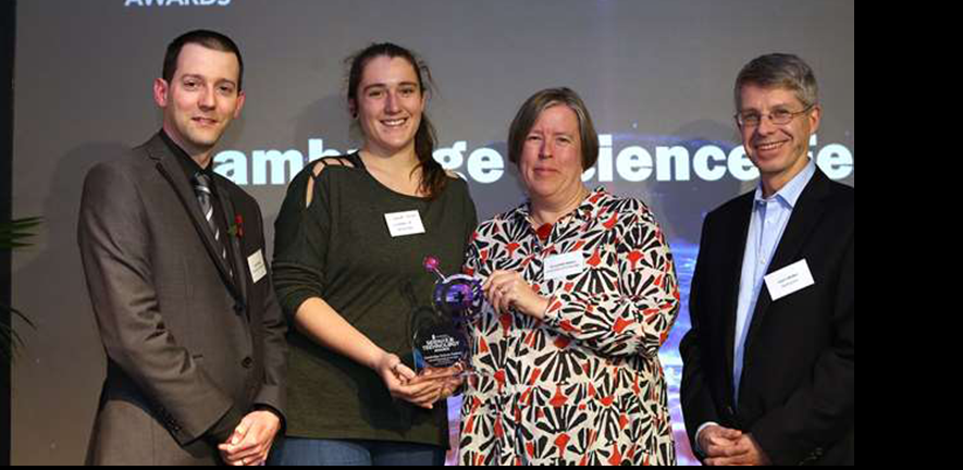 Cambridge Science Festival organisers collecting award