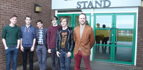 Adam Nall and Cheadle Hulme High School Students at Haydock Park