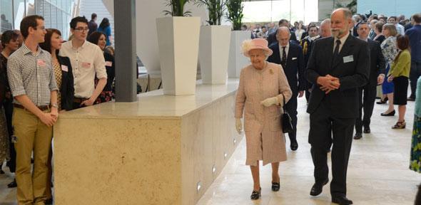 Sir Hugh Pelham with HM The Queen