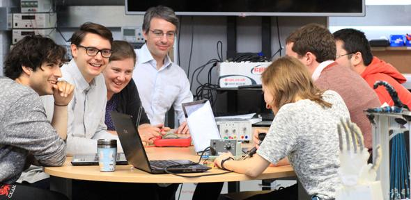 Team members from Cambridge's EPSRC Centre for Doctoral Training in Sensor Technologies and Applications.
