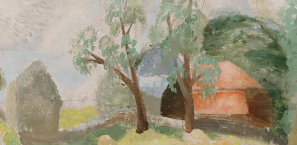 Winifred Nicholson Roman Road (Landscape with Two Houses), 1926