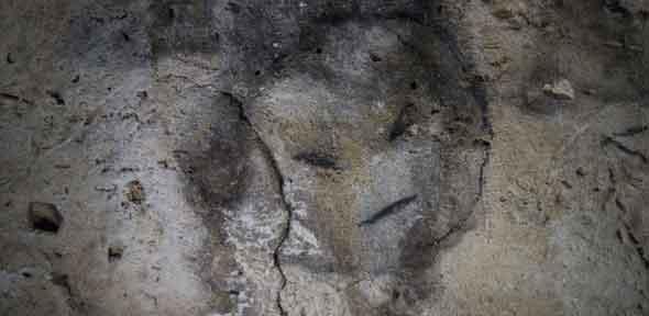 Cave painting, Isla de Mona