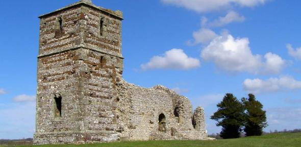 Knowlton Church, a listed building