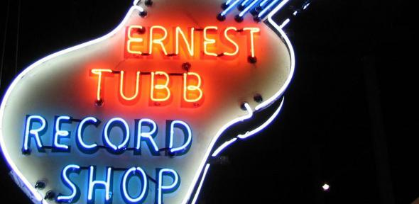 Ernest Tubb Record Shop sign