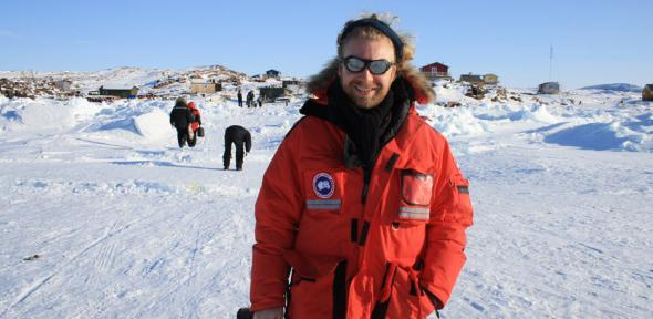 Stephen Leonard in Greenland.