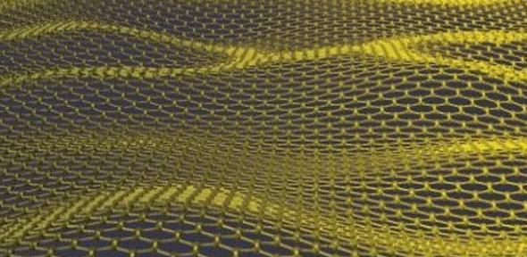 Depiction of a graphene sheet.