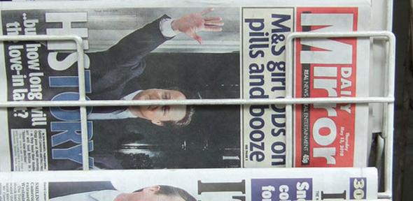 Newspapers the day after the coalition.