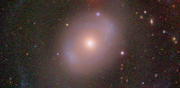 The galaxy NGC 4151. Researchers were able to use this galaxy to accumulate data about flares coming from a mysterious X-ray source close to the giant black hole at its centre.