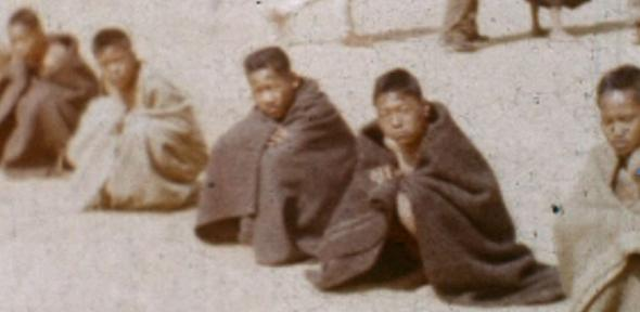 Gurkha recruits awaiting inspection c.1950. The never-before-seen footage has been released to mark the launch of the Amateur Cinema Studies Network, http://amateurcinemastudies.org.