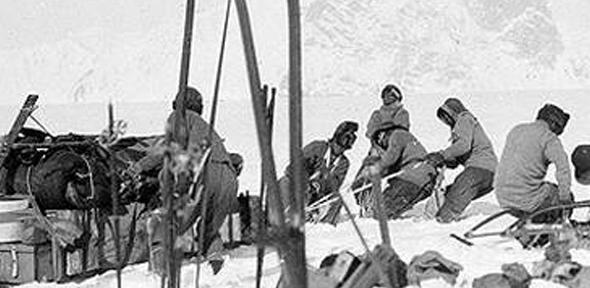 One of the photos taken by Captain Scott during the Terra Nova expedition