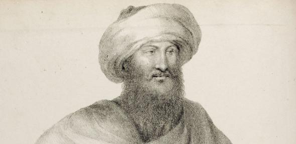A portrait of John Lewis Burckhardt from his 'Travels in Syria and the Holy Land'.