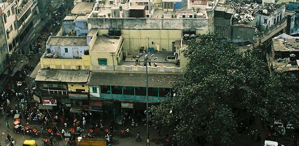 New Delhi from Jama Masjid's tower
