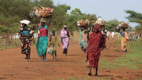 Women and children flee South Sudan