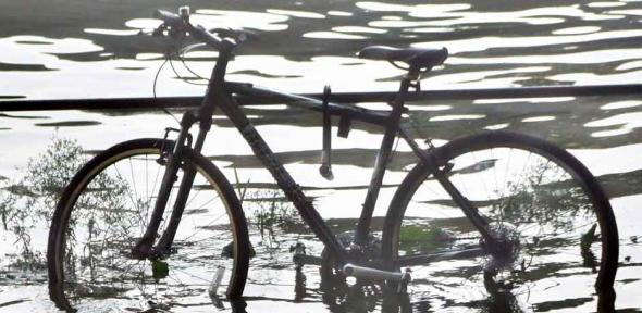 Bike in flood