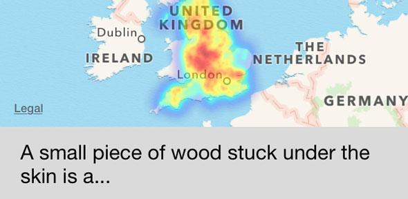Do you say splinter, spool, spile or spell? English Dialects app ...