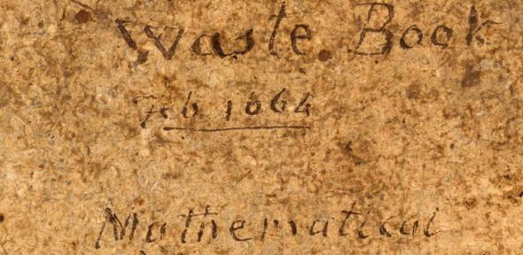 Isaac Newton's 'Waste Book'