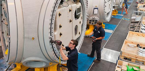 Wind turbine manufacturing facility in Arkansas, USA