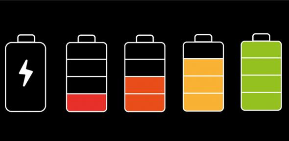 Illustration of batteries charging