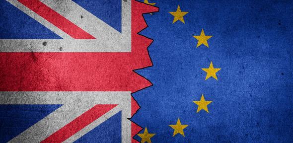 Union Flag and EU Flag