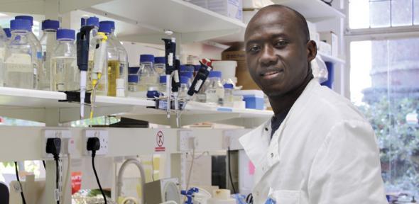 Kenyan PhD student in Pathology Department