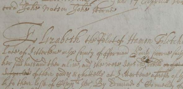 Extract from the 1641 Depositions at Trinity College Dublin Library