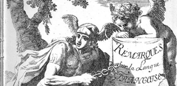 Frontispace of Vaugelas's Remarques sur la langue française (1647)