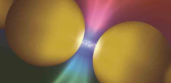Nano-sized balls of gold