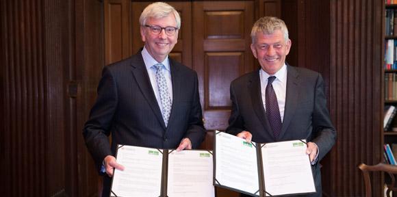 At the signing of the Memorandum of Understanding