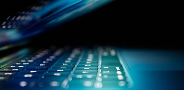 Close-up of a laptop's keyboard