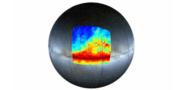 Region mapped by Planck satellite
