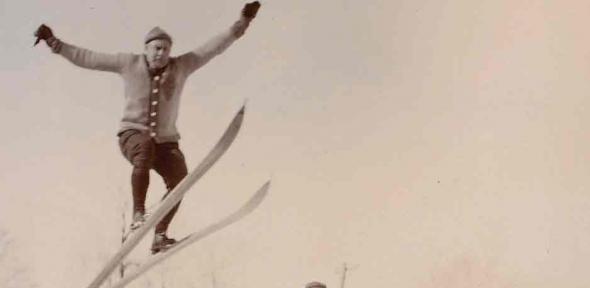 Ski jump, Alfred Hugh Fisher, 1867-1945